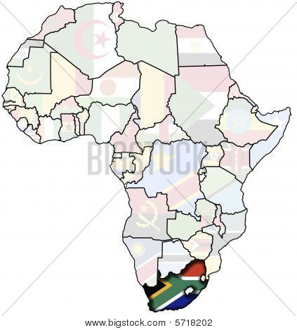 Rsa On Africa Map