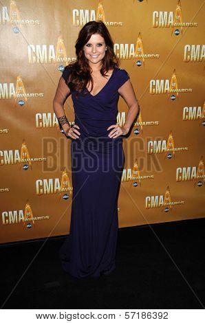 Joanna Garcia at the 44th Annual CMA Awards, Bridgestone Arena, Nashville, TN.  11-10-10