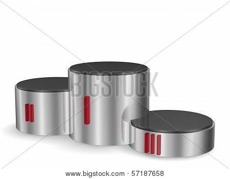 Cylindrical Metallic Pedestal