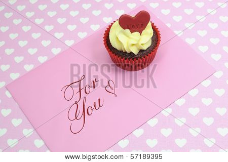 Red Velvet Cupcakes with Love for Valentine or Special Occasions