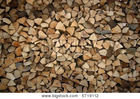 Stacks of split fire wood