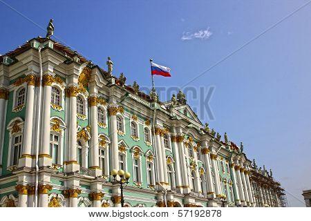 Building Of The Hermitage In St. Petersburg