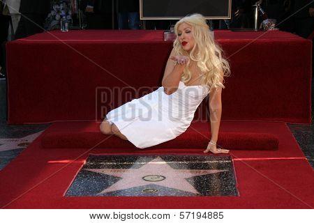 Christina Aguilera  at Christina Aguilera's induction into the Hollywood Walk of Fame, Hollywood Blvd, Hollywood, CA. 11-15-10