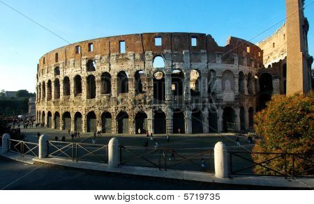 Evening shot of the Colosseum, Rome, Italy