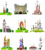 CIty collection, set of buildings