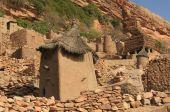 stock photo of dogon  - Dogon village in Bandigara cliff in Mali - JPG