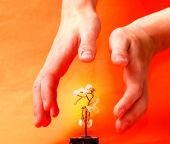 Hands Care About  Artificial Metal Tree