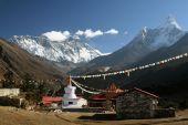 image of sherpa  - View to Ama Dablam - JPG