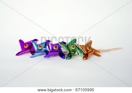 Mini Pinwheels in a Row