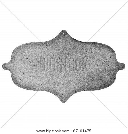 Vintage grey Paper Label isolated on white