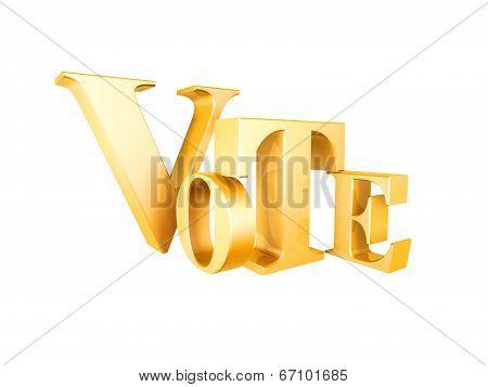 Golden Vote Symbol