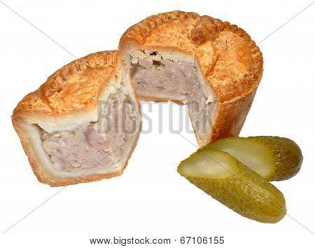 Pork Pie And Pickled Gherkin