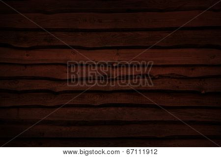 Natural wooden wall