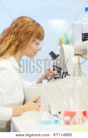 Young chemist in the laboratory.