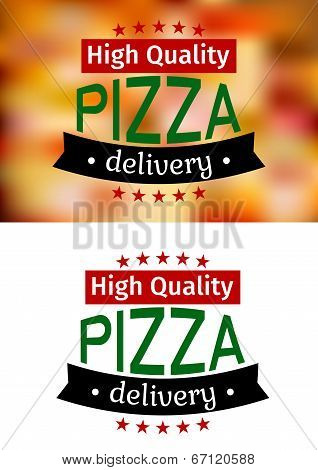 Piiza delivery banners