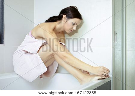 Nice Woman After Taking Bath