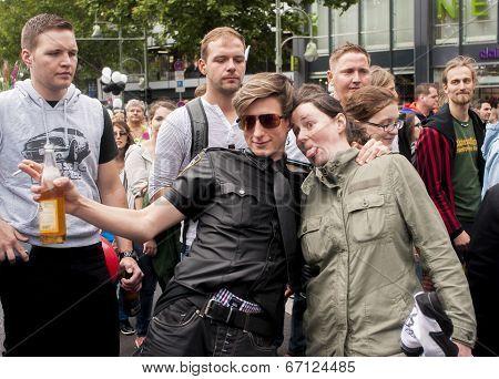 Unidentified Participants During Gay Pride Parade