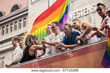 Unidentified Participants During Gay Pride Parade