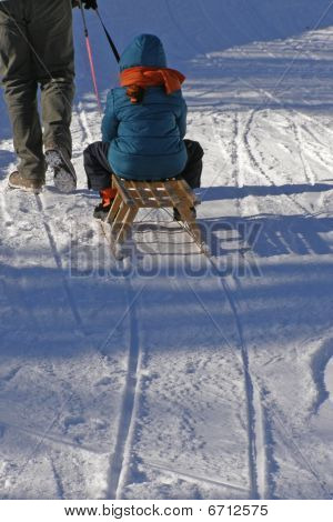 Winter und Familie fun