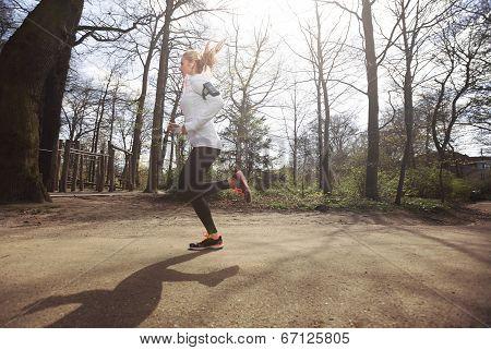 Female Athlete Training Outdoor