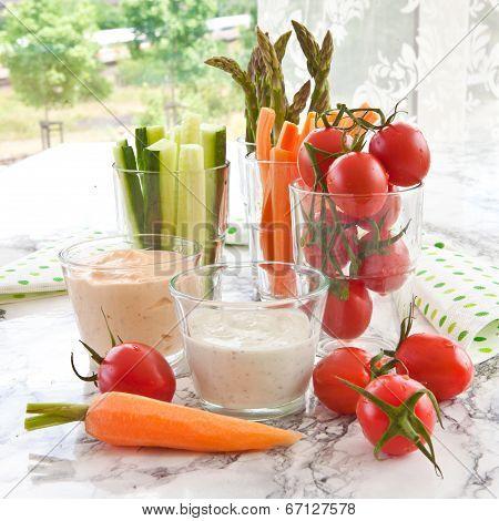 Fresh Vegetable Sticks
