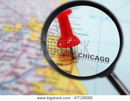 Chicago Map Closeup