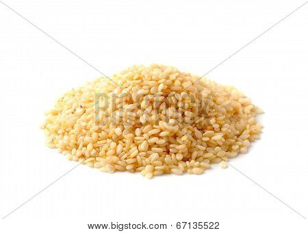 Sesame Heap On White Background