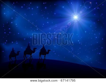 Three wise men and star