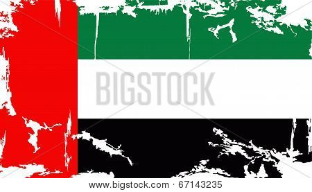 UAE grunge flag. Vector illustration
