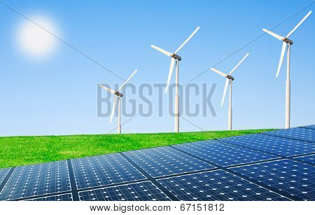 Net Energy Of The Sun And Wind