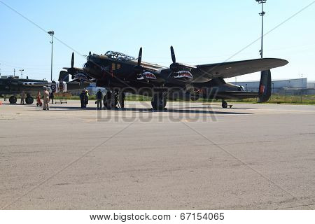 One Of Only Two Flying In The World Lancaster And Crew