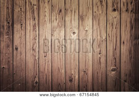 Background of an old natural wooden darken room with messy and grungy cracked tree floor of beech texture inside vintage, retro proper vertical warm rural interior with wood, shadows, dingy, dim light