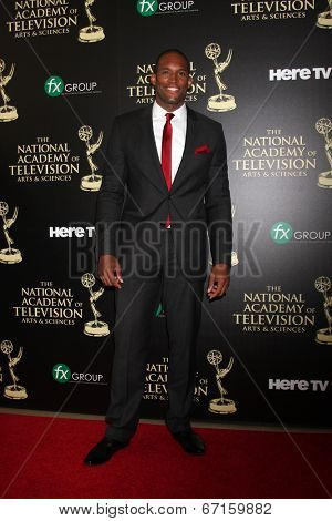 LOS ANGELES - JUN 22:  Lawrence Saint-VIctor at the 2014 Daytime Emmy Awards Arrivals at the Beverly Hilton Hotel on June 22, 2014 in Beverly Hills, CA