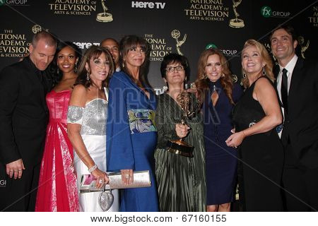 LOS ANGELES - JUN 22:  Young and Restless - Best Daytime Drama at the 2014 Daytime Emmy Awards Press Room at the Beverly Hilton Hotel on June 22, 2014 in Beverly Hills, CA