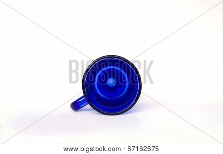 Inside a Clear Blue Cup