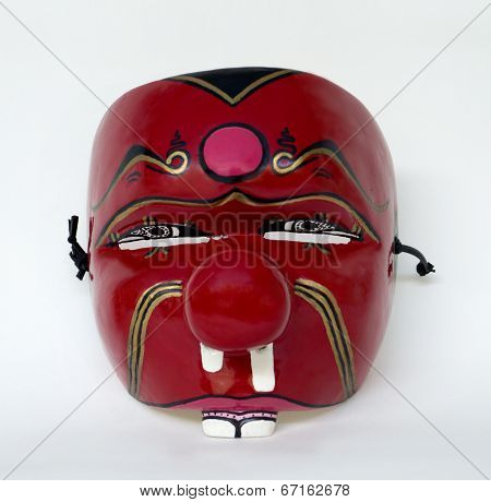 Red Face Mask