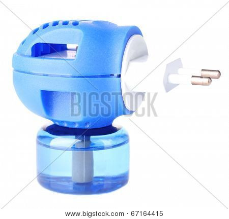 Mosquito fumigator isolated on white