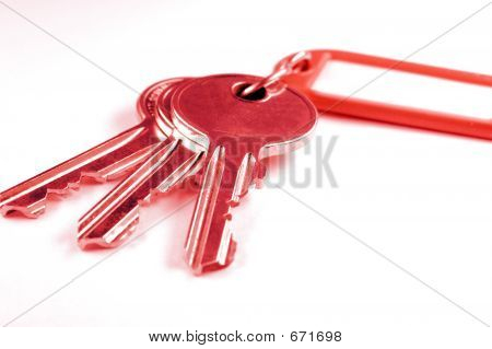 Keys With Key Fob In Red