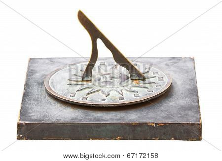Sundial On White Background