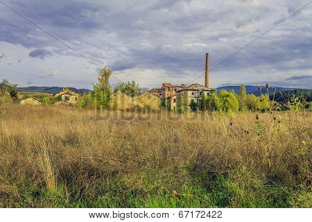 abandoned factory from afar