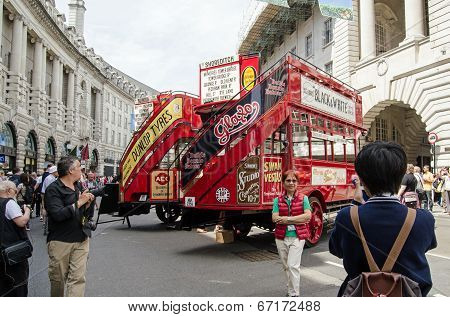 Bus birthday, London