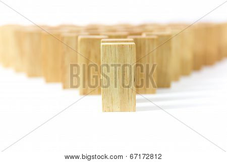 Row Wooden Domino
