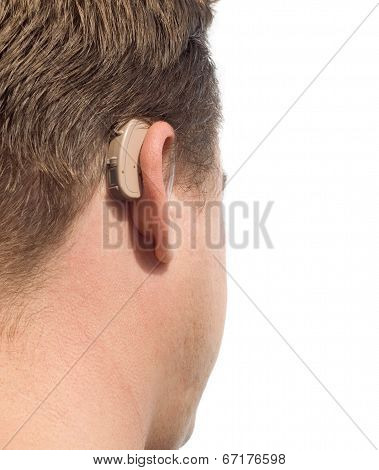 Deaf Man's Ear Close-up.