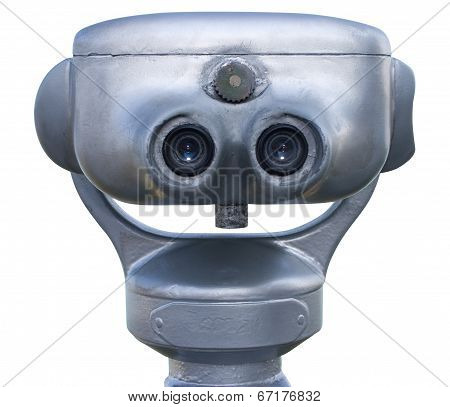 Binoculars From Back With Clipping Path