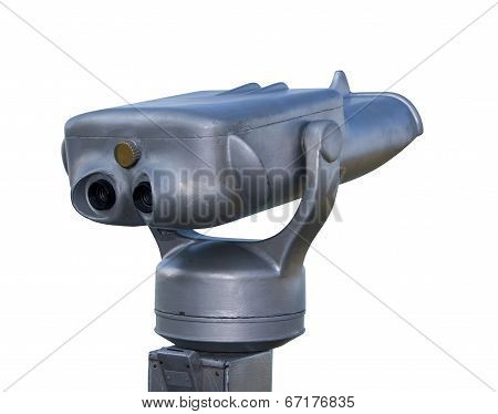 Binoculars With Clipping Path On White