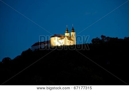 Tihany Abbey At Night