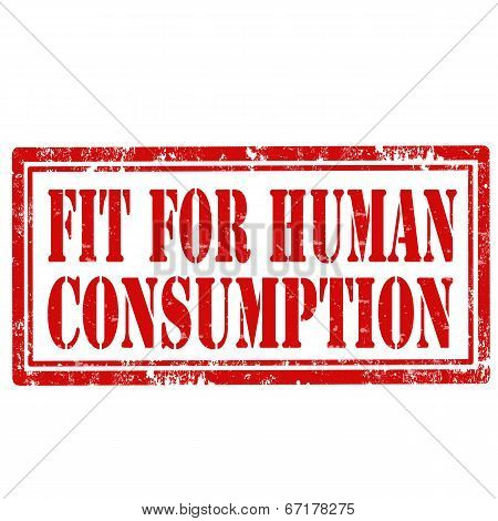 Fit For Human Consumption-stamp