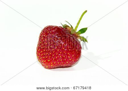 Heart-shaped strawberry.