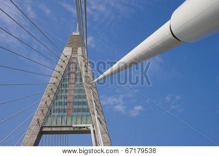 Bridge Pylon And Rope Wires