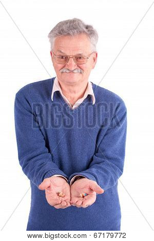 Senior Man With Hearing Aids